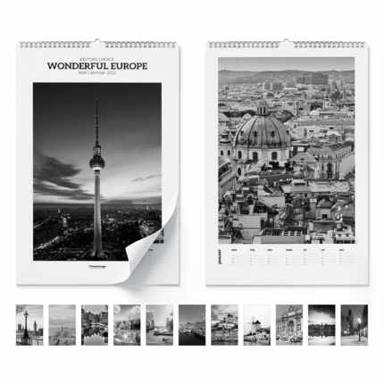 Väggkalender  Wonderful europe 2021