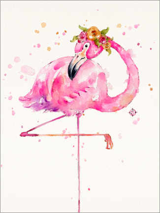 Canvastavla  Sweet Flamingo - Sillier Than Sally