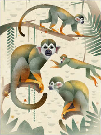 Canvastavla  Squirrel monkey - Dieter Braun