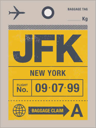 Premiumposter New York travel tag