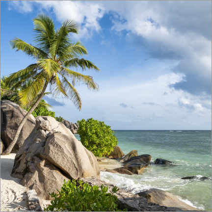 Premiumposter Anse Source d'Argent beach in the Seychelles