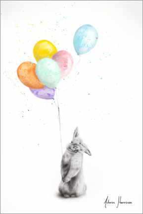 Premiumposter Buster and His Balloons