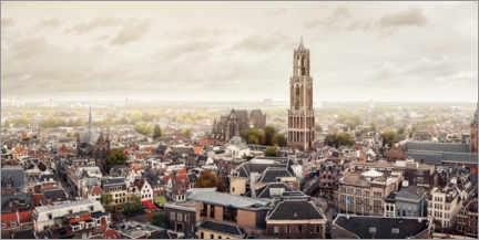 Aluminiumtavla  View of Utrecht, one of the oldest cities in the Netherlands - Sebastian Grote