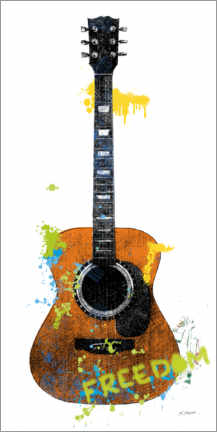 Premiumposter Guitar II graffiti