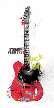 Premiumposter Guitar graffiti