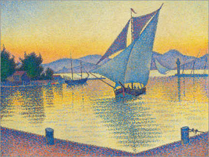 Canvastavla  Harbor in the sunset - Paul Signac