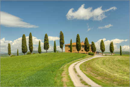 Premiumposter Country house in Tuscany