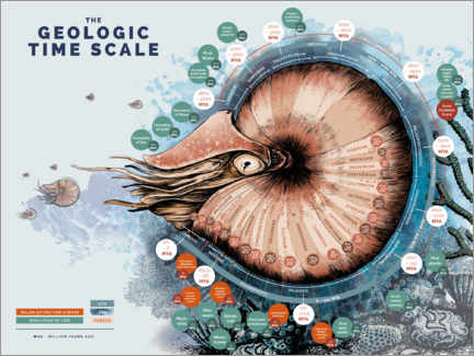Canvastavla  The geological time scale (English) - Velozee