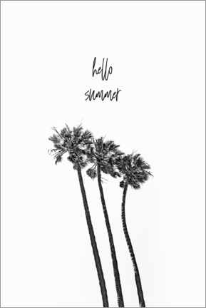 Premiumposter Summer idyll under palm trees