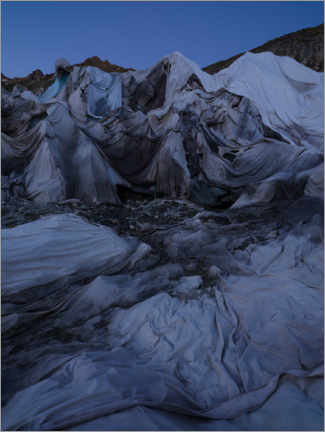 Galleritryck  Ceilings on the surface of the Furka Glacier, Switzerland - Peter Wey
