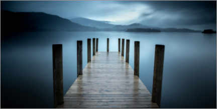 Premiumposter Pier on Derwent Water