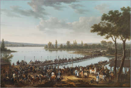 Premiumposter The Passage of the Danube by Napoleon before the Battle of Wagram
