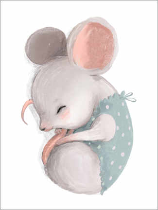 Canvastavla  Little mice taking a nap - Kidz Collection