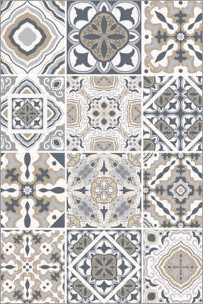Canvastavla  Moroccan azulejo decor