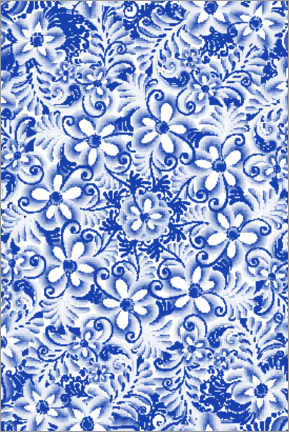 Premiumposter  Delft blue design