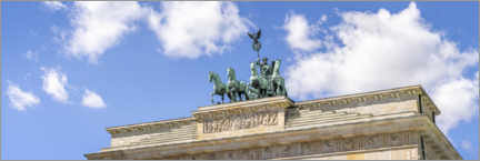 Premiumposter  Quadriga statue at the Brandenburg Gate - Jan Christopher Becke