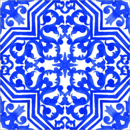 Premiumposter Delft blue tile decor I