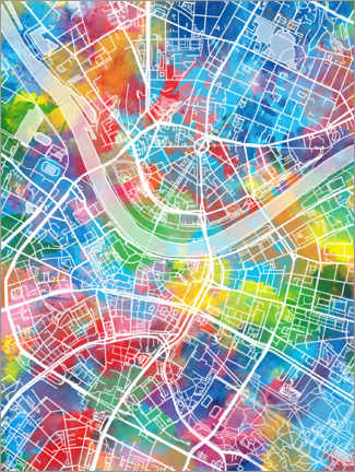 Premiumposter  Dresden city map - Bekim Mehovic
