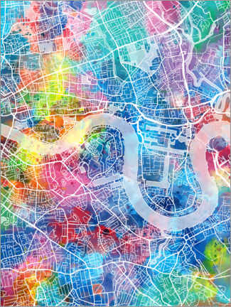 Premiumposter  London city map - Bekim Mehovic