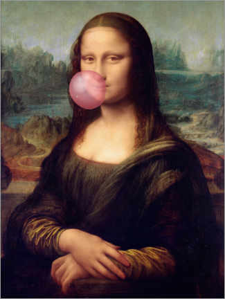 Premiumposter Mona Lisa with chewing gum