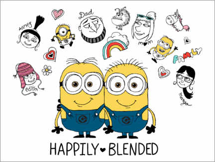 Galleritryck  Despicable Me 3 - Happily Blended