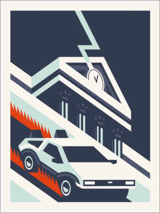 Självhäftande poster  Back to the future - minimal