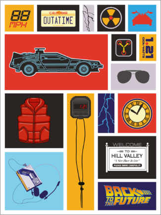 Premiumposter  Back to the future Pop Art