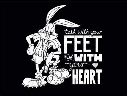 Premiumposter  Bugs Bunny - Soccer quote