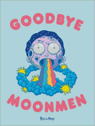 Premiumposter  Rick and Morty - Goodbye Moonmen
