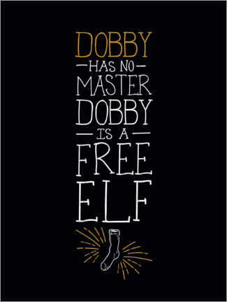 Canvastavla  Dobby has no master - Quote