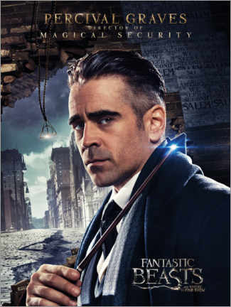 Trätavla  Fantastic Beasts and Where to Find Them - Percival Graves