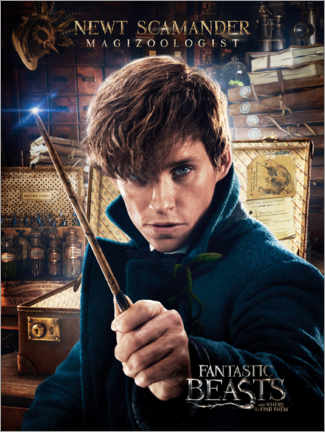 Aluminiumtavla  Fantastic Beasts and Where to Find Them - Newt Scamander