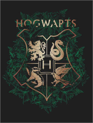 Canvastavla  Hogwarts 4 Houses