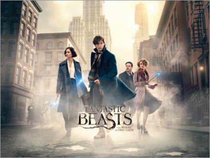 Aluminiumtavla  Fantastic Beasts and Where to Find Them - Theatrical poster