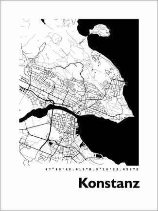 Galleritryck  Map of Constance - 44spaces