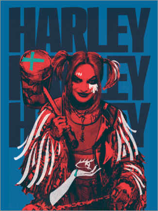 Canvastavla  Mad Harley