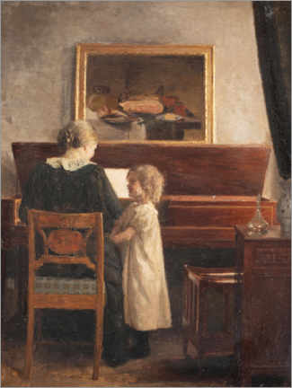 Premiumposter  At the piano - Peter Vilhelm Ilsted