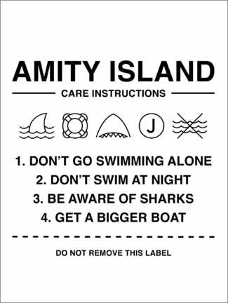 Premiumposter  Amity Island - Care instructions