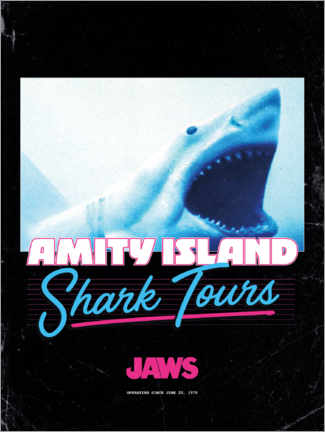 Premiumposter  Shark Tours, retro