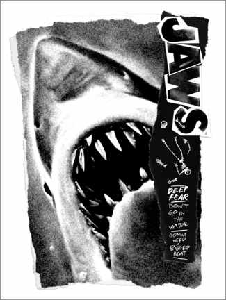 Premiumposter  Jaws - Deep Fear Collage