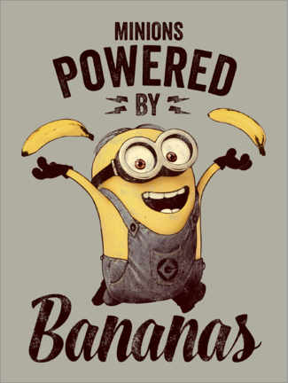 Premiumposter  Minions - Powered by Bananas