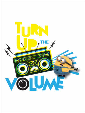 Premiumposter  Minions - Turn up the volume