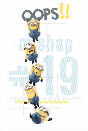 Premiumposter  Minions - Oops!!