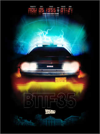 Premiumposter  DeLorean Night Ride