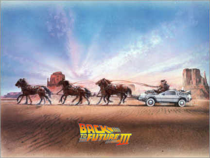 Premiumposter  Back to the future III - Carriage