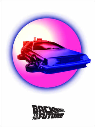 Premiumposter  BTTF time travel pink