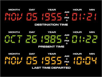 Premiumposter  Back to the future countdowns