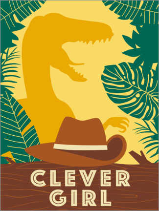 Premiumposter Clever Girl
