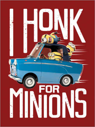 Premiumposter  I honk for minions