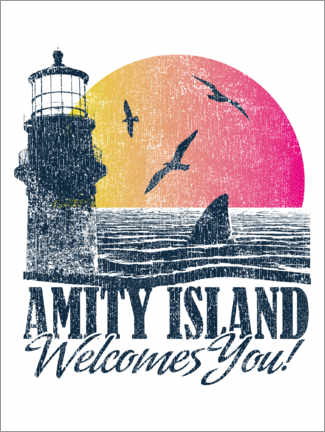 Premiumposter  Amity Island Welcomes You